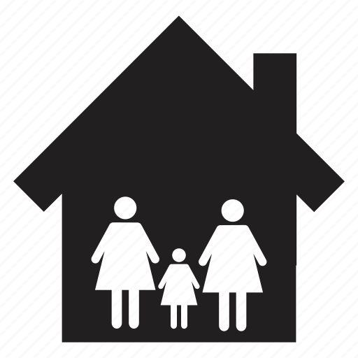 family, home, house, residence, stay, together icon