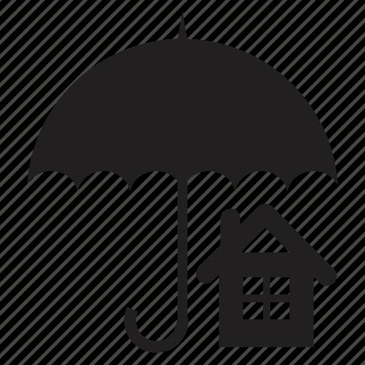 family, home, house, protection, umbrella icon
