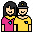 cheerful, couple, kid, lifestyle, love, parent, together icon