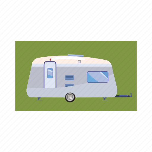 cartoon, trailer, transport, transportation, travel, vacation, vehicle icon