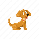 animal, cartoon, cute, dog, pet, puppy, small icon
