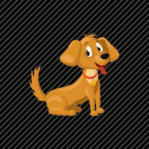 animal, cartoon, cute, dog, pet, puppy, small icon