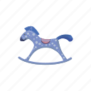 cartoon, horse, play, pony, toy, wood, wooden icon