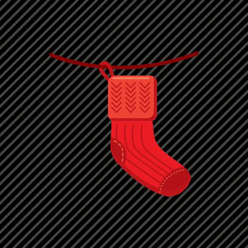cartoon, christmas, december, sock, stocking, winter, xmas icon