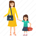 consumerism, daughter, family shopping, mother, mother daughter shopping icon