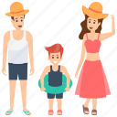 family beach vacations, family holiday, family travelling, family trip, family vacations icon