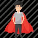 fast employer, profitable worker, super businessman, superman, workplace asset icon