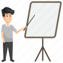 analysis, briefing, lecture, presentation, training icon
