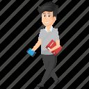 businessman, employer, entrepreneur, executive, on the go., walking businessman icon