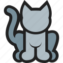 animal, cat, domestic, kitty, mammal, pet icon