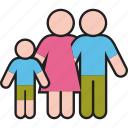 boy, child, family, father, mother, parents, son icon