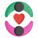 dating, lovers, matrimonial, relationship, romantic couple, spouse icon