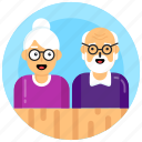 elderly, old age persons, old couple, grandparents, grand persons