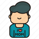 boy, man, avatar, user, love, mom, love mom