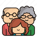 grandparents, grandfather, grandmother, old, people, family