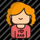 girl, woman, avatar, user, love, dad, love dad