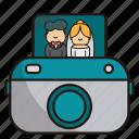 instant camera, camera, photography, photo, image, family, marriage