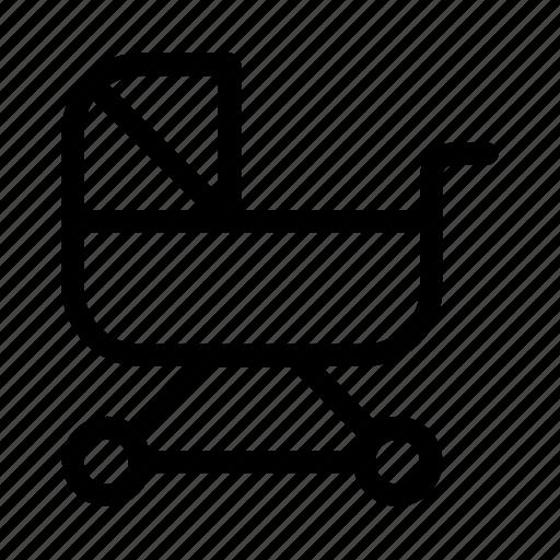 Baby stroller, childhood, kid and baby, motherhood, parenthood, stroller, transport icon - Download on Iconfinder