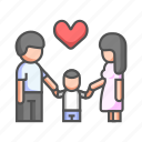 family, happiness, happy, joy, love, parent, together icon