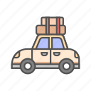car, family, family car, luggage, travel, trip, vacation icon