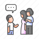 compromise, couple, divorce, family, family compromise, relationship, talk icon