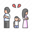 argument, breaking, conflict, couple, family, family quarrel, relationship icon