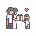 compliment, family, family reward, gift, give, parent, reward icon