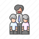 bonding, family, grandparents, grow old, happy, parents, together icon