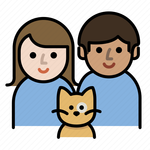 cat, couple, family, kitty, parents, pet icon