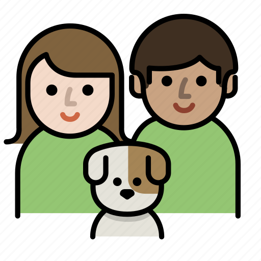couple, dog lover, family, member, parent, pet icon
