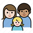 child, couple, family, father, kids, member, mother icon