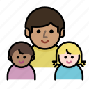 children, family, father, kids, member, parents icon