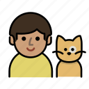 cat, cat lover, family, human, man, men, user icon