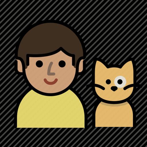 cat, cat lover, family, human, man, men, user icon