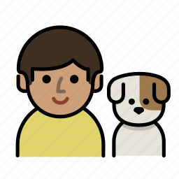 dog, dog lover, family, human, man, men, user icon