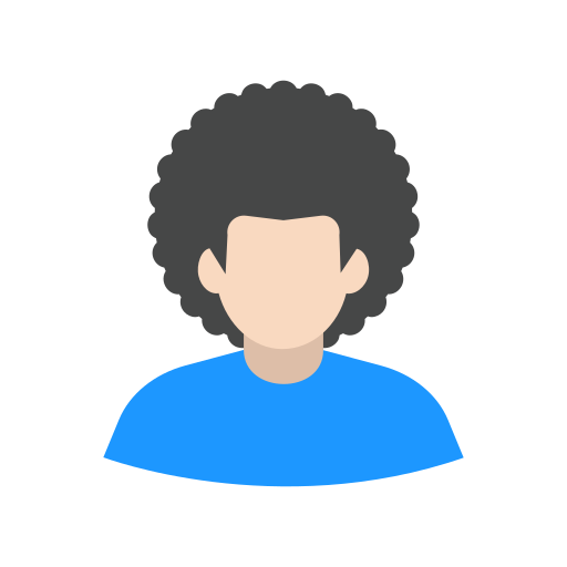 afro, guy, man, user icon