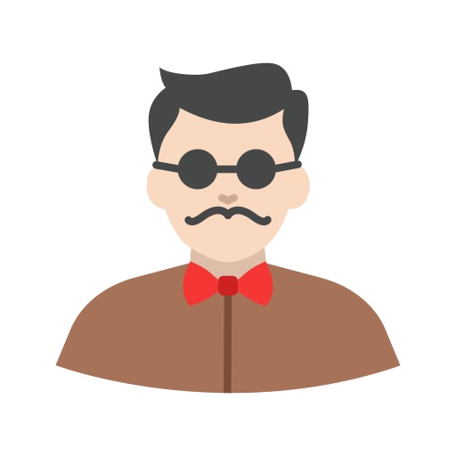 guy, hipster, man, vintage icon
