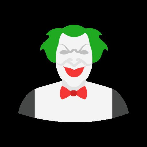 clown, halloween, joker, killer icon