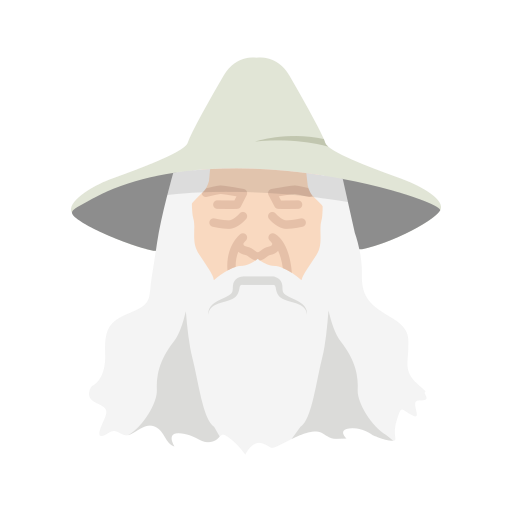 gandalf, lord of the ring, old man, wizard icon