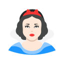 disney princess, lady, princess, snow white icon