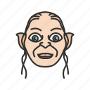 gollum, lord of the rings, smeagol icon