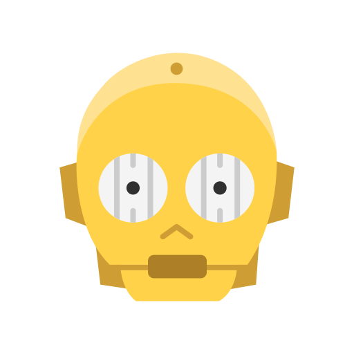 c3po, r2d2, robot, star wars icon