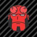 evil, hellboy, strong, super hero icon