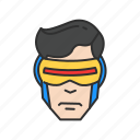 cyclops, geordi la forge, star trek, super hero icon