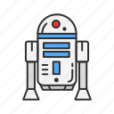 bb-8, r2-d2, robot, star wars icon