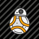 bb-8, r2d2, robot, star wars icon
