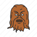 chewbacca, hans solo, star wars, wookie icon