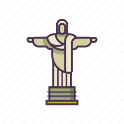 brazil, christ the redeemer, landmark, statue icon