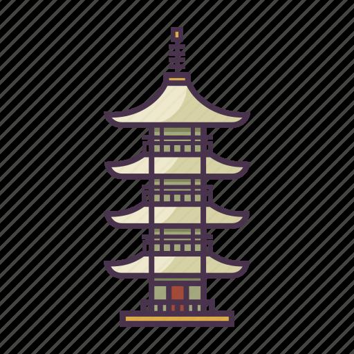 architecture, buddhism, ikegami honmon-ji temple, japan, temple icon