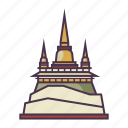 architecture, culture, golden mount, religion, temple icon